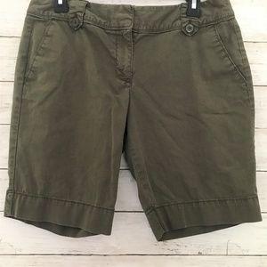 Ann Taylor Loft Khaki Shorts Petite Size 8